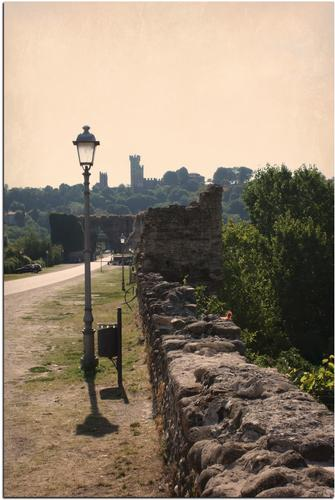Sul ponte Visconteo verso Il Castello - Borghetto (857 clic)