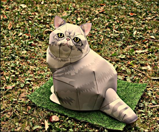 Papercraft Cat - Melzo (500 clic)