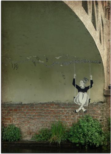 Dondolando sotto il ponte - Milano (762 clic)