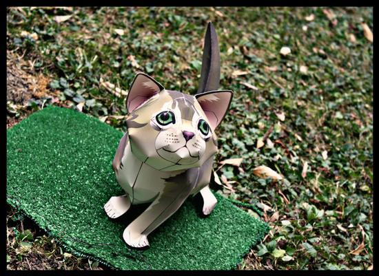 Papercraft Cat - Melzo (354 clic)
