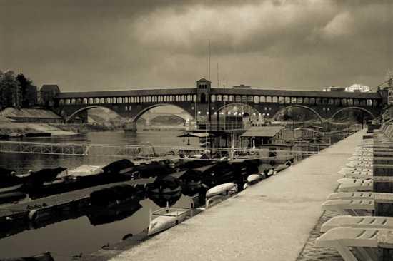 Ponte sul Ticino - Pavia (1946 clic)