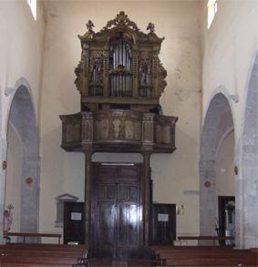 CHIESA DI SAN NICOLA - ANTICO ORGANO - Petina (2767 clic)