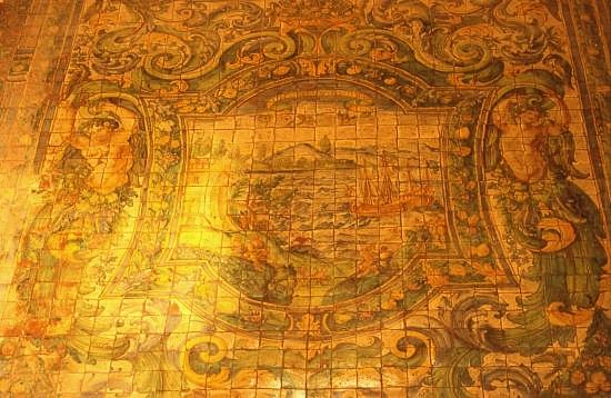 Pavimento in maiolica Chiesa madonna alla badia - Caccamo (4597 clic)
