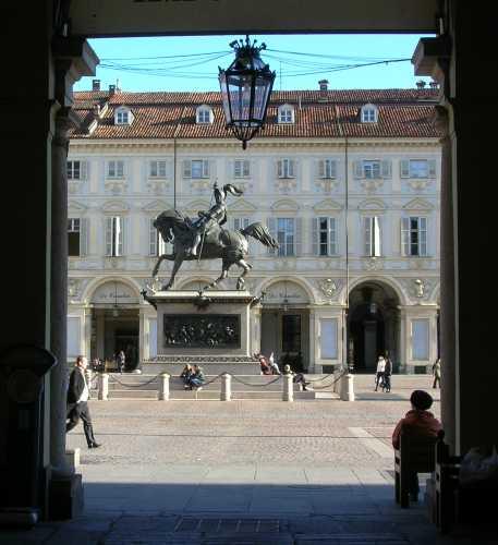 Piazza San Carlo - Torino (1952 clic)
