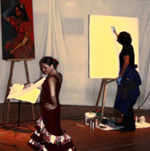 Sonikète Flamenco & Sefardì Trio con Pittura di Mauro El Pintor - Palermo (2567 clic)
