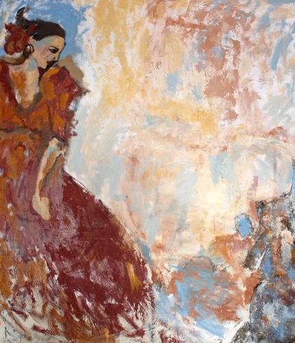 Mauro Di Girolamo EL PINTOR - Ritratto di ballerina di flamenco  - Palermo (2852 clic)