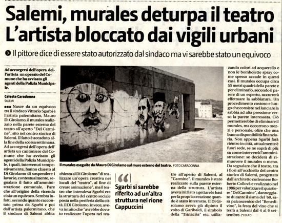 Equivoco tra l'artista Mauro Di Girolamo EL PINTOR  e il Critico Vittorio SGARBI  - PALERMO - inserita il 09-Jun-10