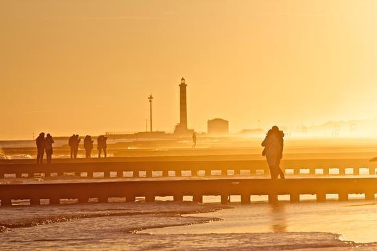 Passeggiata al mare al tramonto (706 clic)