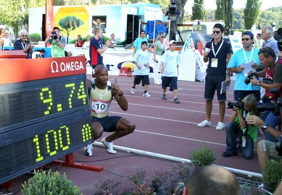 Record del mondo 100 metri -2009 - RIETI - inserita il 25-Sep-10