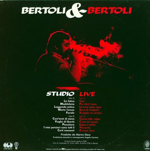 ALBUM DI P.A. BERTOLI - STUDIO LIVE - Cosenza (3455 clic)