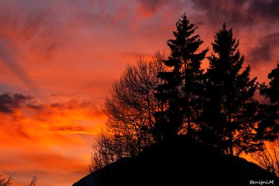 tramonto dal paese di Seo - Stenico (1001 clic)