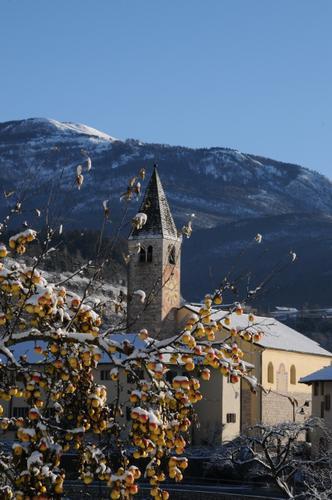 chiesa di tavodo in inverno - San lorenzo in banale (2249 clic)