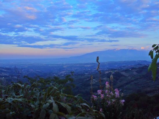Scende la sera sul terrazzo - Villa celiera (980 clic)