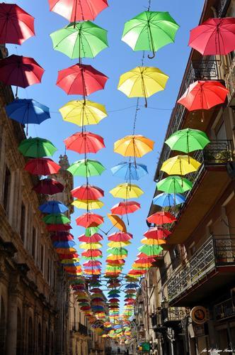Ombrelli a Licata (per la festa di Sant'Angelo) (3470 clic)