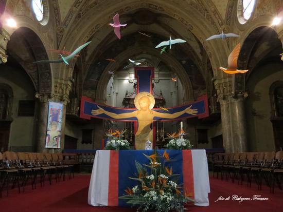 Uccelli nella chiesa di San Giorgio di Fiorano al Serio - Gazzaniga (954 clic)
