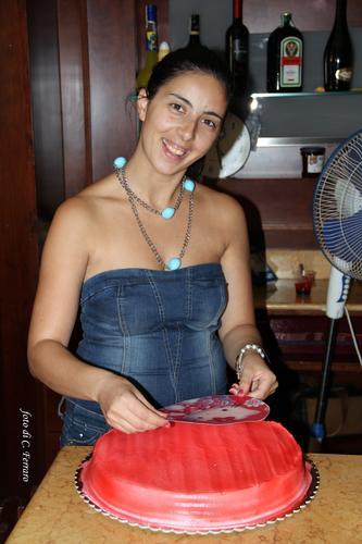 MERIEN, artista delle torte del CIN CIN bar. - Riesi (1993 clic)