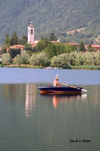 TRAMONTO SUL LAGO DI LOVERE   (AGOSTO 2011) - Gazzaniga (1131 clic)