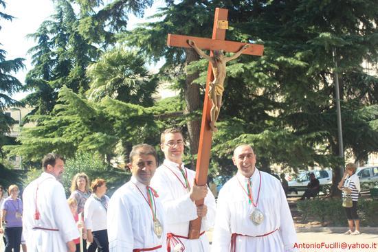 Processione dei Santi Medici Cosma e Damiano...domenica 2 settembre 2011....centenario della beatificazione - Ruvo di puglia (1681 clic)