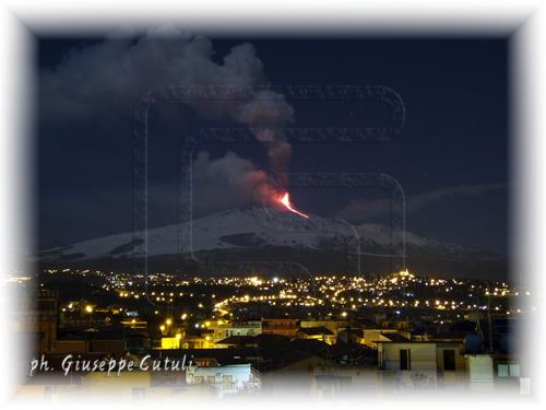 Eruzione Etna 09-02-2012 - San giovanni la punta (2526 clic)