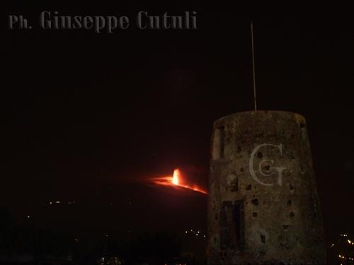 Etna in eruzione - Trecastagni (3543 clic)