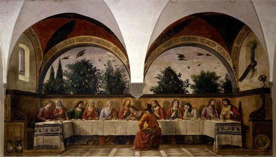 Cenacolo del Ghirlandaio-chiostro della Chiesa Ognissanti - Firenze (3865 clic)