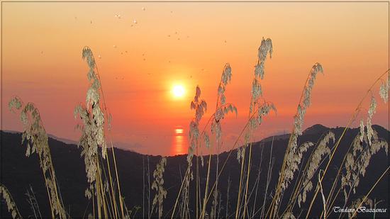 Tramonto a Gioiosa Marea, sullo sfondo Capo D'Orlando (2664 clic)