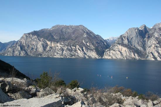Torbole - Lago di Garda da sentiero panoramico Busatte - Tempesta (3635 clic)