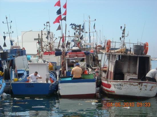 Pescatori al lavoro - Trapani (2827 clic)