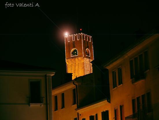 Treviso La Torre vestita di Luci (1989 clic)