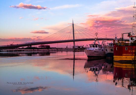 Tramonto dul ponte di Pescara (4710 clic)