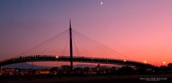 PESCARA ponte del mare al tramonto | PESCARA | Fotografia di Navio De Santis