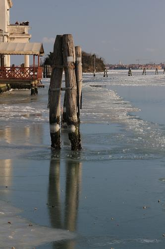 Ghiaccio in Laguna - Venezia (2897 clic)