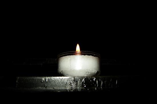Venezia, candela in chiesa (2009 clic)
