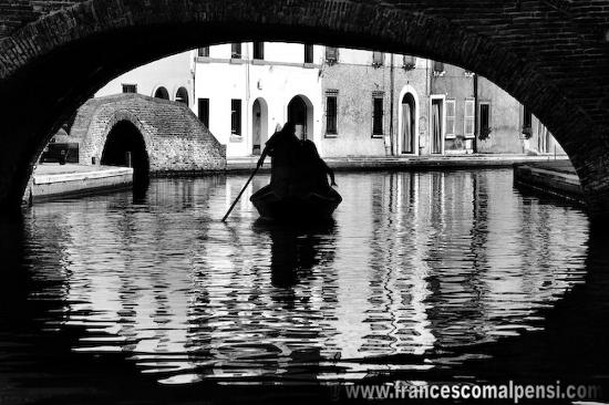 Vista del canale di Comacchio (2689 clic)
