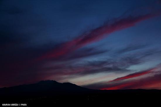....tramonto sull'etna - Fondachello (1652 clic)