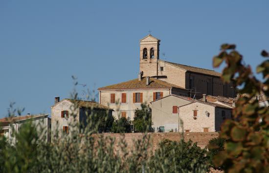 Cerasa-San Costanzo: retro delle mura castellane (1730 clic)