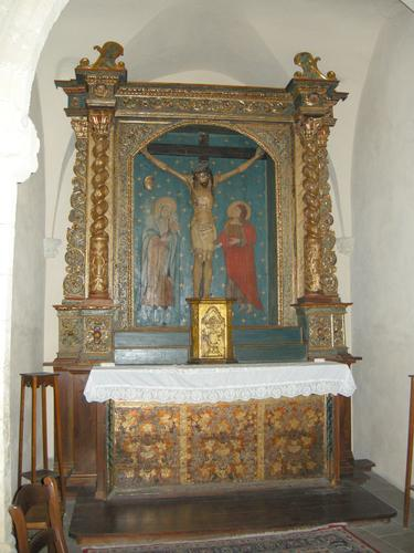 Castelsardo - Chiesa di Santa Maria - Altare ligneo 1 (2139 clic)