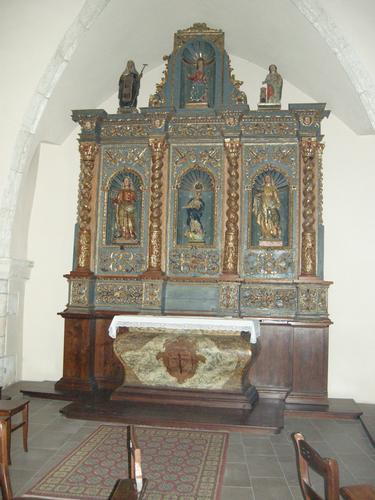Castelsardo - Chiesa di Santa Maria - Altare ligneo 2 (2081 clic)