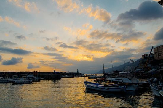 Porto di Camogli al Tramonto (3074 clic)