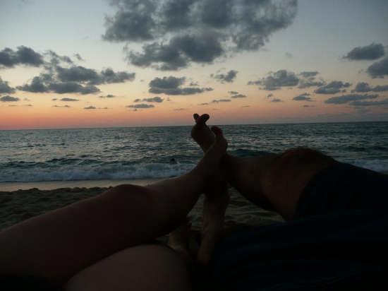 tramonto sulla spiaggia - Tropea (3427 clic)
