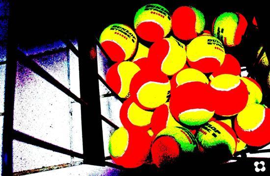 Greenclub, palline rosse e gialle - Modica (1523 clic)