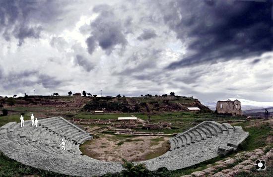 il teatro antico di Morgantina - Aidone (1403 clic)