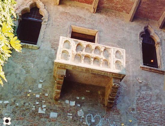 Il balcone di Giulietta - Verona (2134 clic)