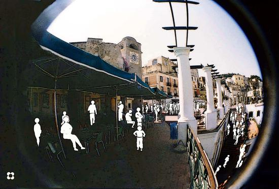 Capri, verso la  Piazzetta (2110 clic)