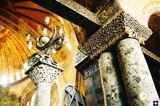 Istambul, Basilica di Santa Sofia, particolare (1407 clic)