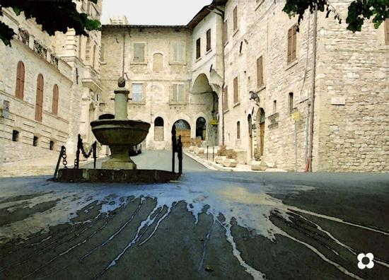 Piazza Vescovado, 2003 - Assisi (1561 clic)