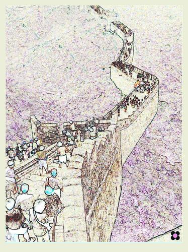 la muraglia cinese, una delle sette meraviglie del mondo moderno (435 clic)