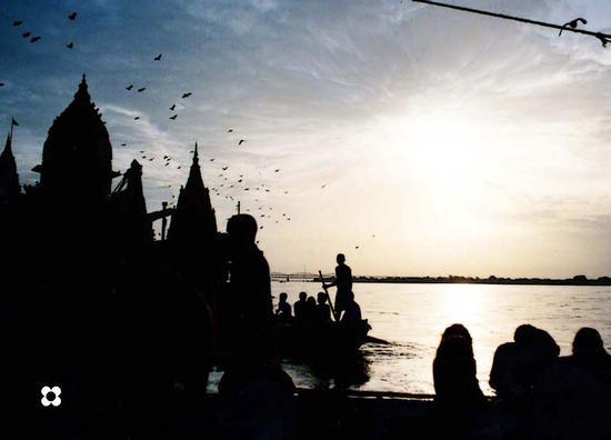 Benares, tramonto sul Gange (952 clic)