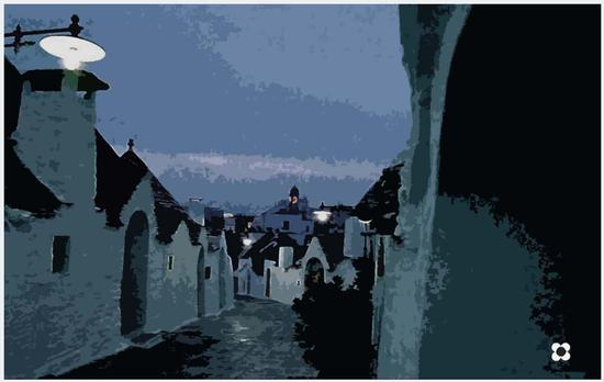 è sera ad Alberobello (1015 clic)