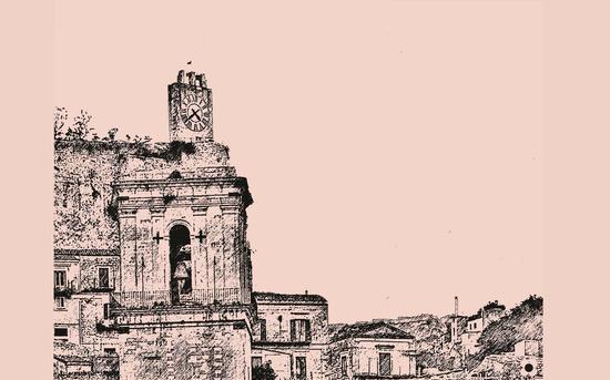 il campanile di san pietro e l'orologio del castello - Modica (1215 clic)